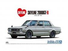 Aoshima - Nissan Skyline 2000GT-R 4-Door PGC10 '70, Mastelis: 1/24, 05835