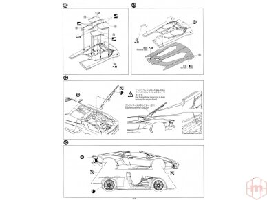 Aoshima - Lamborghini Aventador LP700-4 Roadster, Mastelis: 1/24, 00865 22