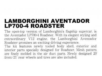 Aoshima - Lamborghini Aventador LP700-4 Roadster, Mastelis: 1/24, 00865 5