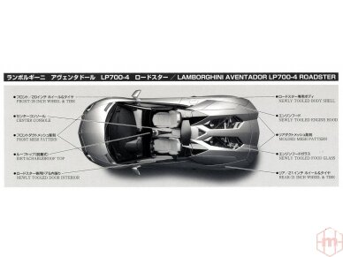 Aoshima - Lamborghini Aventador LP700-4 Roadster, Mastelis: 1/24, 00865 6