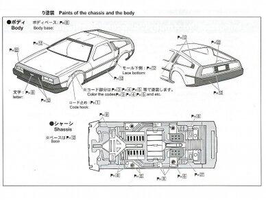 Aoshima - Back to the Future III Delorean, Mastelis: 1/24, 01187 5