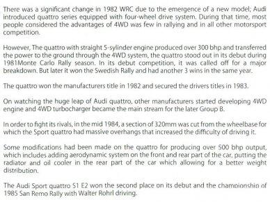 Beemax - Audi Sport Quattro S1 E2 Monte Carlo Rally 1986, Mastelis: 1/24, B24017 22