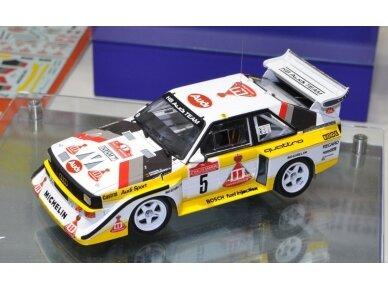 Aoshima Beemax - Audi Sport Quattro S1 E2 Monte Carlo Rally 1986, Mastelis: 1/24, 10398, 24017 5