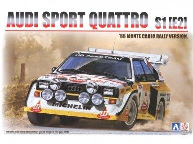 Beemax - Audi Sport Quattro S1 E2 Monte Carlo Rally 1986 with PE, Scale: 1/24, B24017, E24017