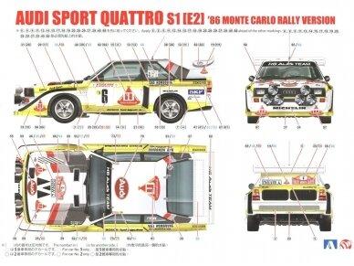 Aoshima Beemax - Audi Sport Quattro S1 E2 Monte Carlo Rally 1986, Mastelis: 1/24, 10398, 24017 9