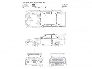 Aoshima Beemax - Audi Sport Quattro S1 E2 Monte Carlo Rally 1986, Mastelis: 1/24, 10398, 24017 11
