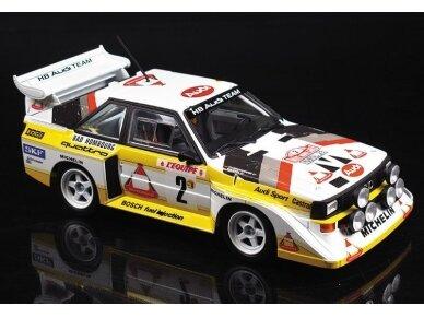 Aoshima Beemax - Audi Sport Quattro S1 E2 Monte Carlo Rally 1986, Mastelis: 1/24, 10398, 24017 2