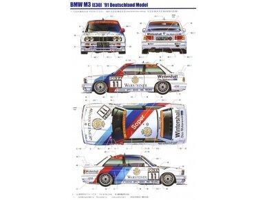 Aoshima Beemax - BMW M3 (E30) `91 Deutschland Model, Scale: 1/24, 09819 12