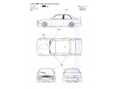 Aoshima Beemax - BMW M3 (E30) `91 Deutschland Model, Scale: 1/24, 09819 13
