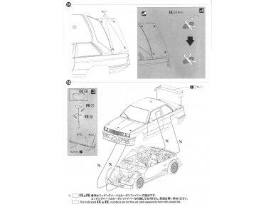 Aoshima Beemax - BMW M3 (E30) `91 Deutschland Model, Scale: 1/24, 09819 23