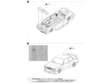 Aoshima Beemax - BMW M3 (E30) `91 Deutschland Model, Scale: 1/24, 09819 24