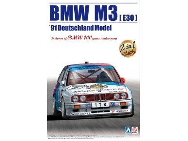 Aoshima Beemax - BMW M3 (E30) `91 Deutschland Model, Scale: 1/24, 09819