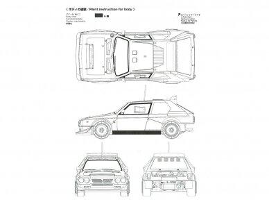 Aoshima Beemax - Lancia Delta S4 Monte Carlo Rally 1986, Mastelis: 1/24, 09885, 24020 24