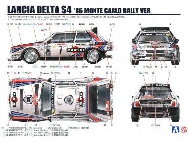 Aoshima Beemax - Lancia Delta S4 Monte Carlo Rally 1986, Scale: 1/24, 09885, 24020 21