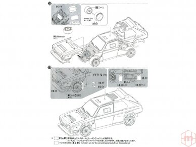 Aoshima Beemax - Lancia Delta S4 Monte Carlo Rally 1986, Mastelis: 1/24, 09885, 24020 39