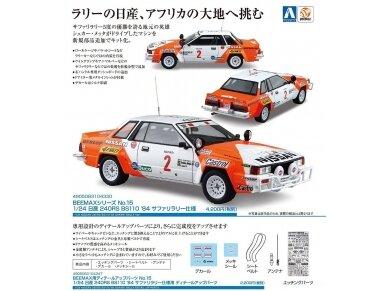 Aoshima Beemax - Nissan 240RS BS110 `84 Safari Rally, Mastelis: 1/24, 10433, 24014 7