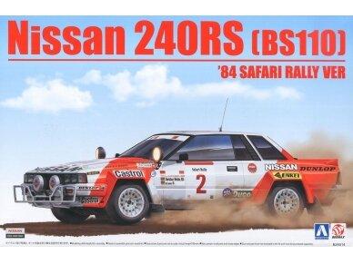 Aoshima Beemax - Nissan 240RS BS110 `84 Safari Rally, Mastelis: 1/24, 10433, 24014