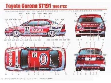 Aoshima Beemax - Toyota Corona [ST191] 94' JTCC, Mastelis: 1/24, 10396, 24013 11