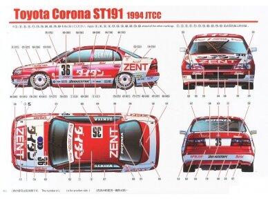 Aoshima Beemax - Toyota Corona [ST191] 94' JTCC, Mastelis: 1/24, 10396, 24013 12