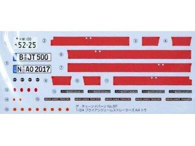 Aoshima - Brian James Trailers A4 Transporter, Mastelis: 1/24, 05260 7