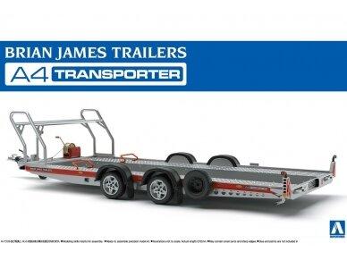 Aoshima - Brian James Trailers A4 Transporter, Mastelis: 1/24, 05260
