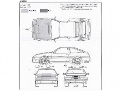 Aoshima - Car Boutique Club Toyota Sprinter Trueno AE86, Mastelis: 1/24, 04775 11