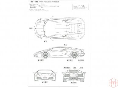 Aoshima - '11 Lamborghini Aventador LP700-4, Mastelis: 1/24, 05864 8