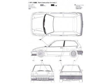 Beemax - EF3 Honda Civic Gr.A `89 PIAA, Mastelis: 1/24, B24005 17