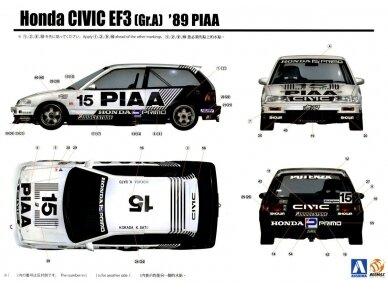 Beemax - EF3 Honda Civic Gr.A `89 PIAA, Scale: 1/24, B24005 18
