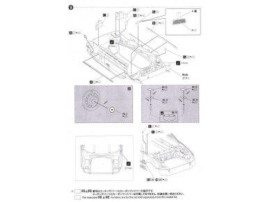 Beemax - EF3 Honda Civic Gr.A `89 PIAA, Mastelis: 1/24, B24005 24