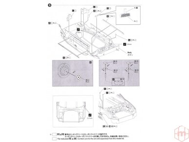 Beemax - EF3 Honda Civic Gr.A `89 PIAA, Scale: 1/24, B24005 24
