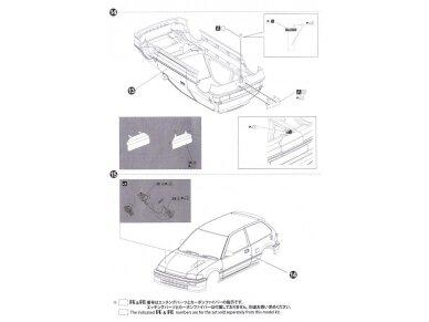 Beemax - EF3 Honda Civic Gr.A `89 PIAA, Mastelis: 1/24, B24005 28