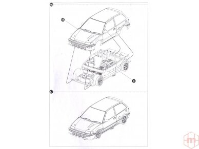 Beemax - EF3 Honda Civic Gr.A `89 PIAA, 1/24, B24005 29