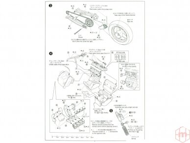 Aoshima - Honda CB400 Surer Four 1982 w/Custom Parts, Mastelis: 1/12, 05514 11