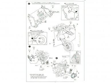 Aoshima - Honda CB400 Surer Four 1982 w/Custom Parts, Mastelis: 1/12, 05514 18
