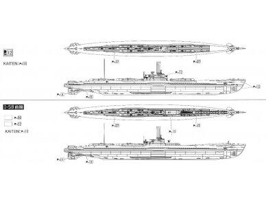 Aoshima - IJN Povandeninis laivas I-58, Mastelis: 1/350, 01225 6