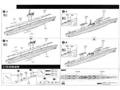 Aoshima - IJN Povandeninis laivas I-58, Mastelis: 1/350, 01225 9