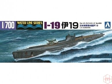 Aoshima - IJN Submarine I-19, Mastelis: 1/700, 05208
