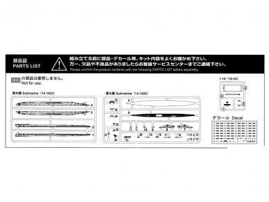 Aoshima - IJN Submarine I-19, Mastelis: 1/700, 05208 9