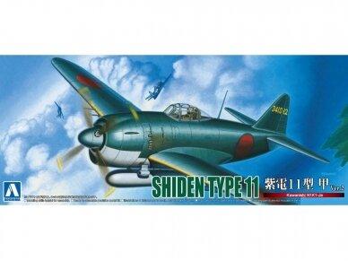Aoshima - Kawanishi N1K1-Ja Shiden Type 11 Kou Ver.2, Mastelis: 1/72, 05189