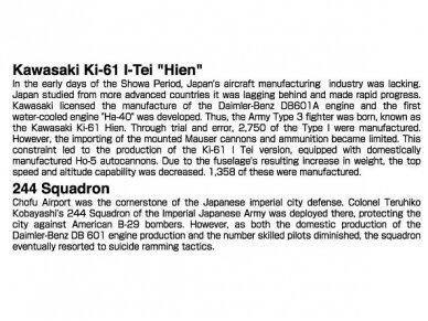 Aoshima - Kawasaki KI-61-I TEI, Mastelis: 1/72, 02342 5