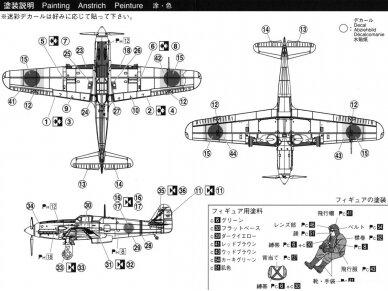 Aoshima - Kawasaki KI-61-I TEI, Mastelis: 1/72, 02342 7