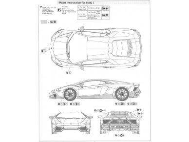 Aoshima - Lamborghini Aventador LP720-4 50 Anniversario Edition, Mastelis: 1/24, 01152 10