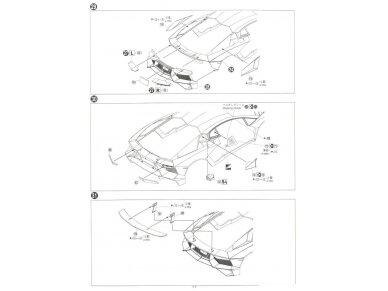 Aoshima - Lamborghini Aventador LP750-4 SV, Mastelis: 1/24, 05120 20