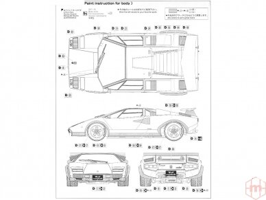 Aoshima - Lamborghini Countach Wolf, Mastelis: 1/24, 04960 6