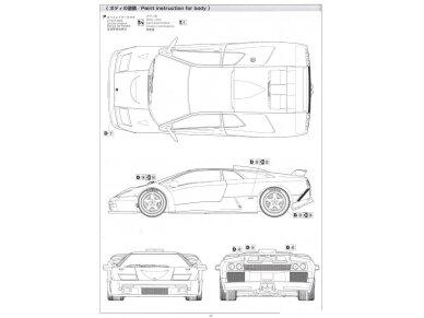 Aoshima - Lamborghini Diablo GT, Mastelis: 1/24, 01050 12
