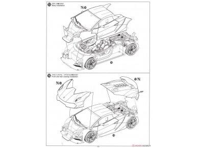 Aoshima - Lamborghini Sesto Elemento, Mastelis: 1/24, 01074 31