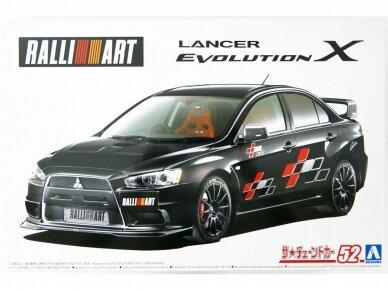 Aoshima - Mitsubishi Lancer Evolution X `07 Rallyart CZ4A, Mastelis: 1/24, 05544 2