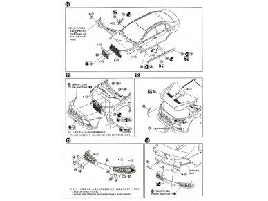 Aoshima - Mitsubishi Lancer Evolution X `07 Rallyart CZ4A, Mastelis: 1/24, 05544 13