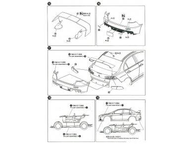 Aoshima - Mitsubishi Lancer Evolution X `07 Rallyart CZ4A, Mastelis: 1/24, 05544 14